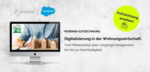 Aufzeichnung Webinar Digitalisierung Wohnungswirtschaft März 2021