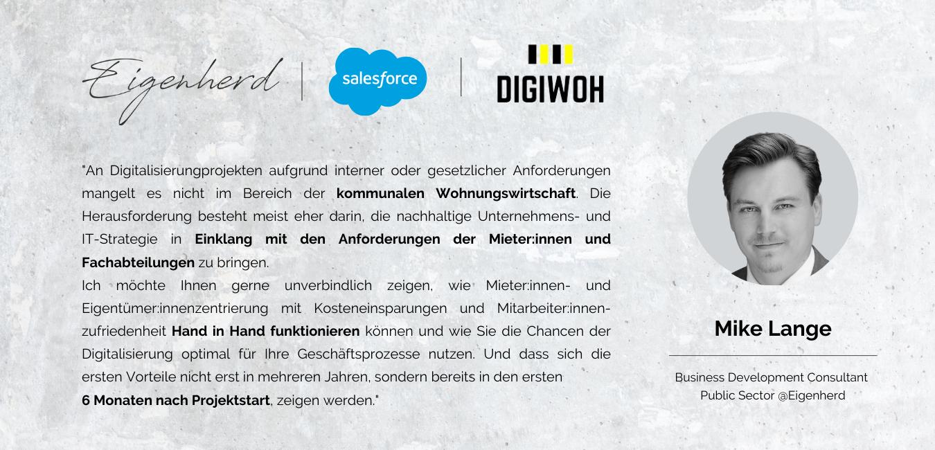 Eigenherd, Salesforce und DigiWoh